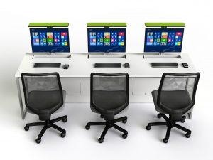 Taula de treball amb PC integrada